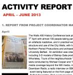 Activity Report Q2 2013